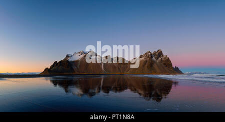 Stokksnes, Hofn, Eastern Iceland, Iceland, Vestrahorn mountain - Stock Photo