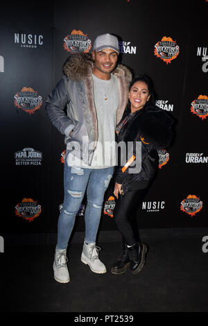 Crawley, UK. 05th Oct, 2018. Nathan Henry and Sophie Kaseai from Geordie Shore attends the 'Shocktober' press night at Tulleys Farm on October 5, 2018 in Crawley, West Sussex Credit: Paul Licorish/Alamy Live News - Stock Photo