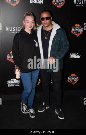 Crawley, UK. 05th Oct, 2018. DJ Ironik attends the 'Shocktober' press night at Tulleys Farm on October 5, 2018 in Crawley, West Sussex Credit: Paul Licorish/Alamy Live News - Stock Photo