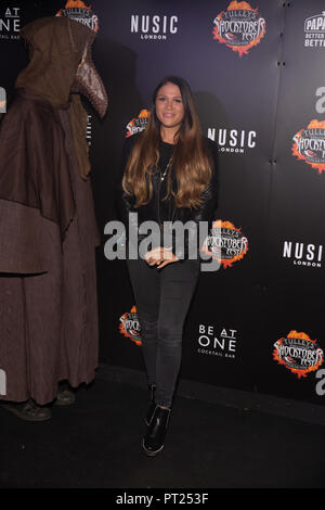 Crawley, UK. 05th Oct, 2018. Ellie Jones attends the 'Shocktober' press night at Tulleys Farm on October 5, 2018 in Crawley, West Sussex Credit: Paul Licorish/Alamy Live News - Stock Photo