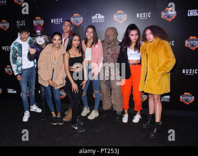 Crawley, UK. 05th Oct, 2018. Angles and Bandits attends the 'Shocktober' press night at Tulleys Farm on October 5, 2018 in Crawley, West Sussex Credit: Paul Licorish/Alamy Live News - Stock Photo