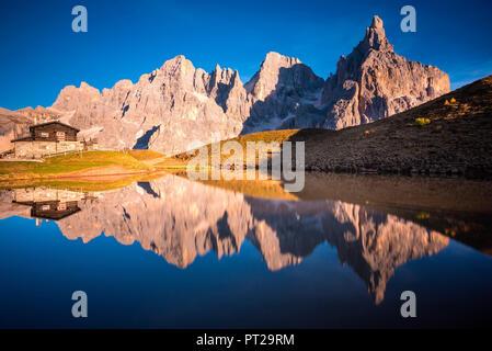 Baita Segantini, Pale di San Martino, Trentino Alto Adige, Italy - Stock Photo