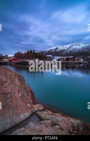 A typical winter cloudy day in Langevåg, Vestlandet, More og Romsdal county, Norway, Europe, - Stock Photo