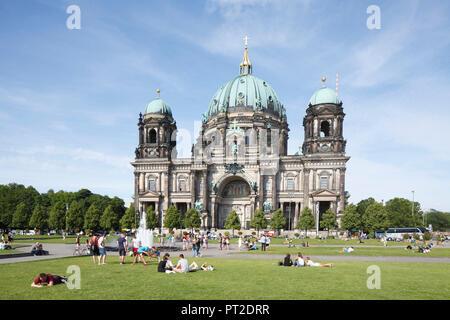 Berlin Cathedral and Lustgarten, Berlin-Mitte, Berlin, Germany - Stock Photo