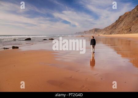 Praia do Castelejo beach, Costa Vicentina, west coast, Algarve, Portugal