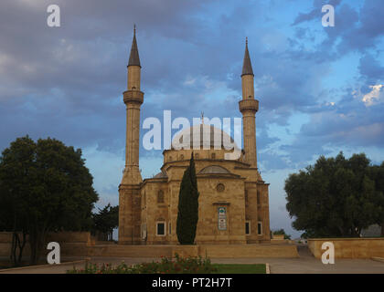 The Mosque of the Martyrs in Baku at late Afternoon - Stock Photo