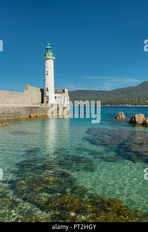 Lighthouse of Propriano, Corse du Sud, Corsica, France - Stock Photo