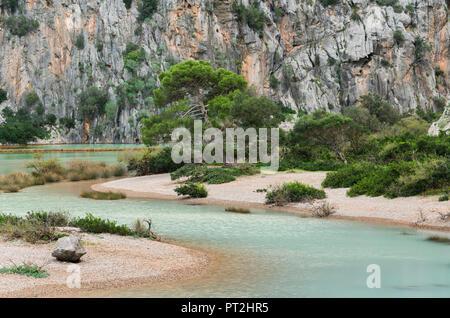Torrent de Pareis, Sa Calobra, Tramuntana, Mallorca, Balearic Islands, Spain - Stock Photo