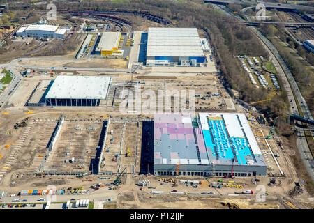 AMAZON Logistics Center Dortmund, next to Decathlon, Dortmund, Ruhr Area, North Rhine-Westphalia, Germany - Stock Photo