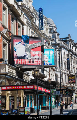 England, London, Shaftesbury Avenue, Theatres - Stock Photo