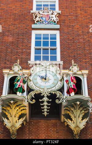 England, London, Piccadilly, Fortnum & Mason, Fortnum's Clock - Stock Photo