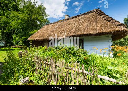 Europe, Poland, Lublin Voivodeship, Zagroda Guciow - Stock Photo