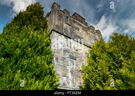 A castle (from Latin: castellum) is a type of fortified structure built during the Middle Ages by predominantly the nobility or royalty. - Stock Photo