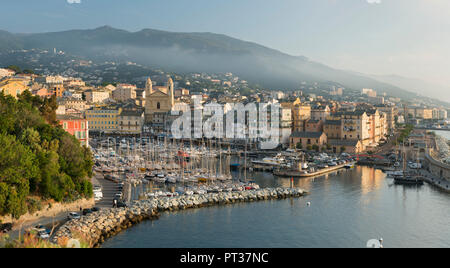 View of the port of Bastia, Haute Corse, Corsica, France - Stock Photo