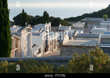 Cemetery at Notre Dame de la Serra, Calvi, Corsica, France - Stock Photo