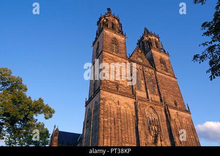 Cathedral of Magdeburg Saint Mauritius and Katharina, Magdeburg, Saxony-Anhalt, Germany - Stock Photo