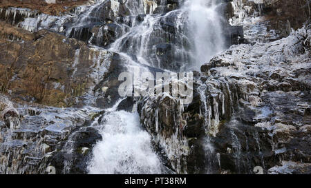 Todtnauer waterfall, Todtnau, Southern Black Forest, Baden-Wuerttemberg, Hochschwarzwald, Baden-Wuerttemberg, Germany - Stock Photo