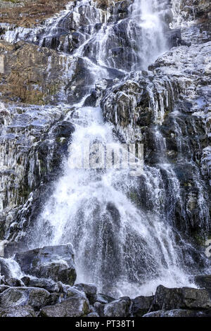 Todtnauer waterfall, Todtnau, Southern Black Forest, Baden-Wuerttemberg, Hochschwarzwald, Baden-Wuerttemberg, Germany - Stock Photo