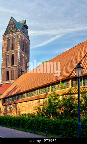 St. Mary's Church in Wismar, Baltic Sea coast, Mecklenburg-Vorpommern, Germany, Europe - Stock Photo