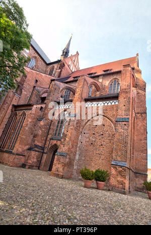 St. Georgen Church, Wismar, Baltic Sea coast, Mecklenburg-Vorpommern, Germany, Europe - Stock Photo