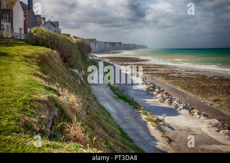Ault, Picardy, France - southern aspect with cliffs - Stock Photo