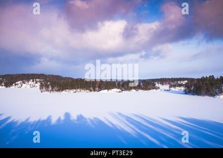 Winter on Saimaa lake. Rural landscape, Finland - Stock Photo