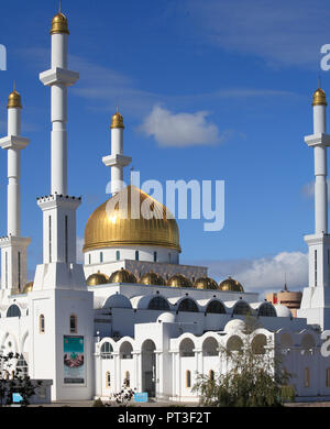 Kazakhstan; Astana; Nur Astana Mosque, - Stock Photo