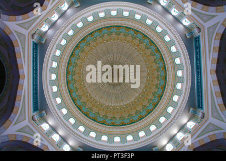 Kazakhstan; Astana; Hazrat Sultan Mosque, interior, - Stock Photo