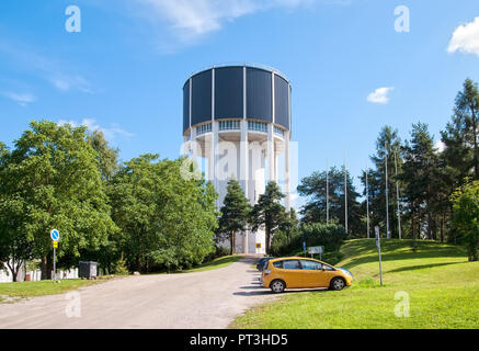 LAPPEENRANTA, FINLAND - AUGUST 8, 2016: Water tower (Vesitorni). One of the tallest buildings in the city. Was built in 1955. - Stock Photo