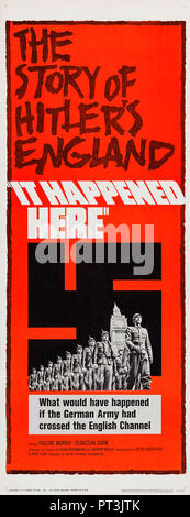 Prod DB © Rath Films / DR EN ANGLETERRE OCCUPEE IT HAPPENED HERE de Kevin Brownlow et Andrew Mollo 1965 GB affiche insert americaine politique fiction - Stock Photo