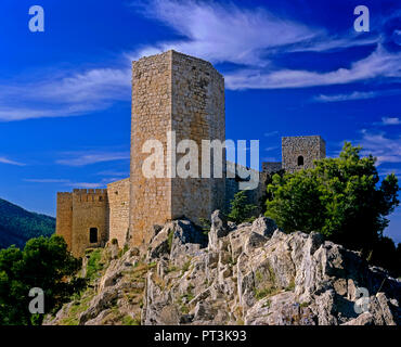 Castle of Santa Catalina (13th century), Jaen, Region of Andalusia, Spain, Europe - Stock Photo