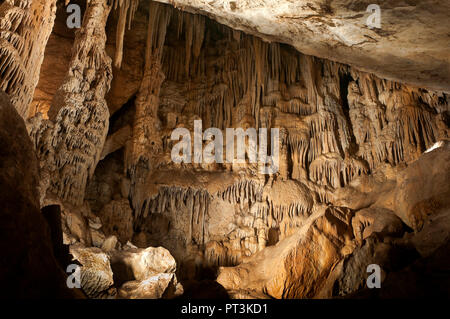 Prehistoric Cave of the Bats. Zuheros. Cordoba province. Region of Andalusia. Spain. Europe - Stock Photo