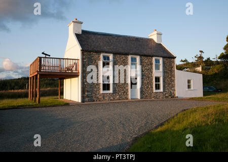 Clooneygorman, Bantry, Cork, Ireland.  24th July, 2015. An old farmhouse that has been modrenised and is now used as a holiday home in Clooneygorman B - Stock Photo