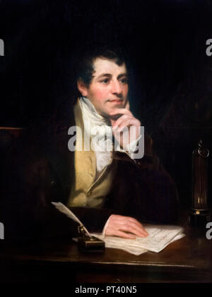 Sir Humphry Davy (1778 -1829), portrait by Thomas Phillips, oil on canvas, 1821. - Stock Photo