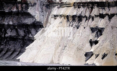 Excavator tracks in the brown coal mine Garzweiler of the RWE near Grevenbroich, Rhenish brown coal field, North Rhine-Westphalia, Germany - Stock Photo