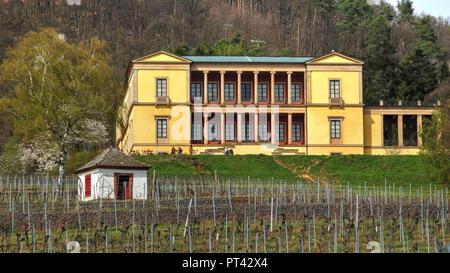 Villa Ludwigshöhe near Edenkoben, Palatinate, Palatinate Wine Route, Rhineland-Palatinate, Germany - Stock Photo