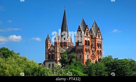 Limburg Cathedral, Limburg an der Lahn, Westerwald, Hesse, Germany - Stock Photo