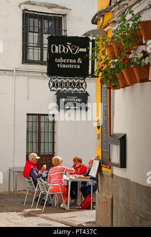 Old Town alley in Cordoba, Andalusia, Spain - Stock Photo
