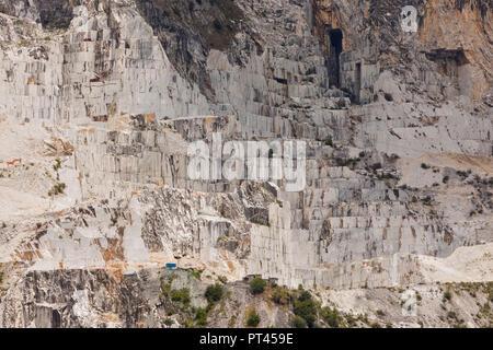 Marble quarry, municipality of Carrara, Massa Carrara province, Tuscany, Italy, western Europe Stock Photo