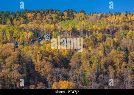 Canada, Quebec , Capitale-Nationale Region, Charlevoix, La Malbaie, autumn - Stock Photo