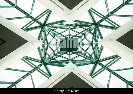 Canada, Quebec, Quebec City, Musee national des Beaux-Arts du Quebec, MNBAQ, skylight, lobby - Stock Photo