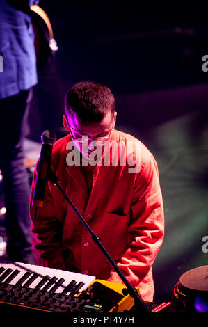 British electropop band Hot Chip in concert in the Ancienne Belgique, Brussels (Belgium, 07/03/2010) - Stock Photo
