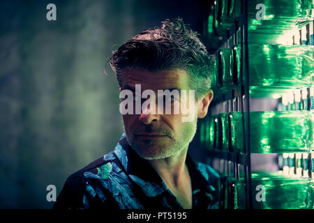 Spanish actor Nacho Guerreros during a portrait session in Madrid. - Stock Photo