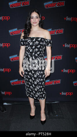 New York, NY, USA. 6th Oct, 2018. Jeanine Mason at New York Comic Con 2018 promoting The CW's Roswell, New Mexico at the Jacob K. Javits Convention Center in New York City on October 06, 2018. Credit: Rw/Media Punch/Alamy Live News - Stock Photo