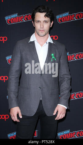 New York, NY, USA. 6th Oct, 2018. Nathan Parson at New York Comic Con 2018 promoting The CW's Roswell, New Mexico at the Jacob K. Javits Convention Center in New York City on October 06, 2018. Credit: Rw/Media Punch/Alamy Live News - Stock Photo