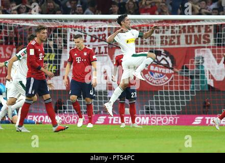 firo: 06.10.2018 Fuvuball, Football: 1.Bundesliga FC Bayern Munich - Borussia Mv? nchengladbach, Lars Stindl, Gladbach, jubilation | usage worldwide - Stock Photo