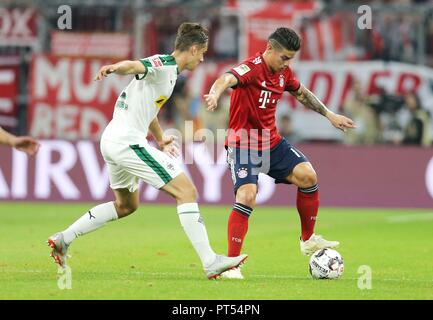 firo: 06.10.2018 Fuvuball, Football: 1.Bundesliga FC Bayern Munich - Borussia Mv? nchengladbach, James Rodriguez, FC Bayern, Munich, Muenchen | usage worldwide - Stock Photo