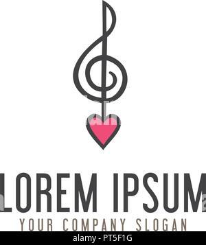 love music symbol or logo template vector illustration icon