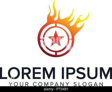 star fire logo design concept template - Stock Photo