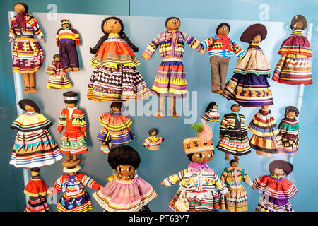 Tampa Florida Tampa Bay History Center centre inside collection exhibits Seminole dolls - Stock Photo